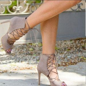 Mayelin by Shoe Dazzle Lace Up Heels